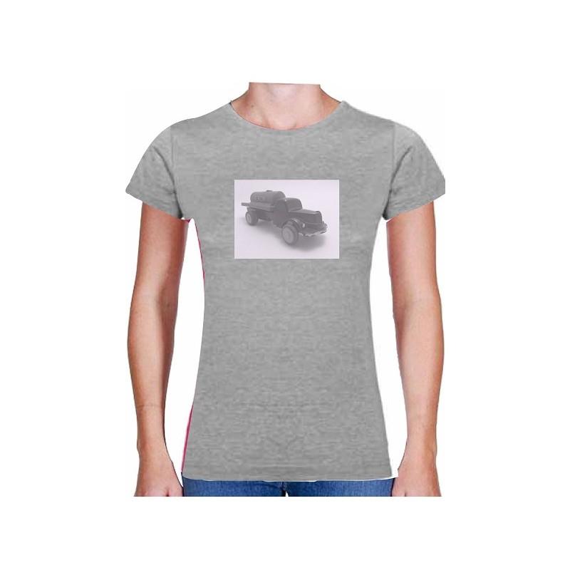 5025f7c55551 Kvalitní dámské tričko s motivem dřevěné hračky náklaďáku
